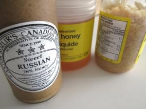 Sweet Russian mustard, honey and minced garlic.