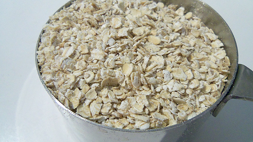 Rolled oats.