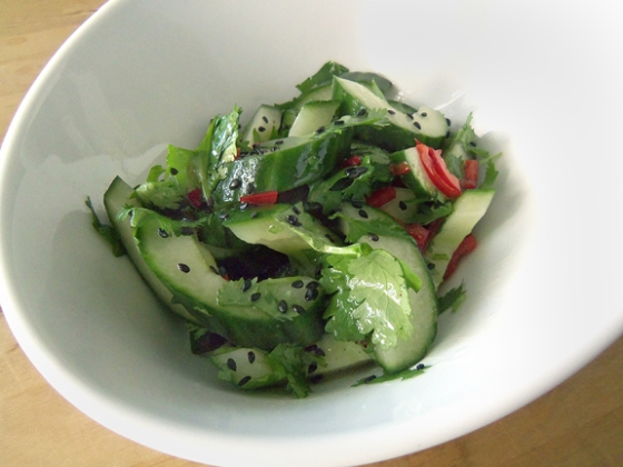 Cucumber and Poppy Seed Salad.
