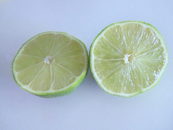 Limes, ready for juicing.